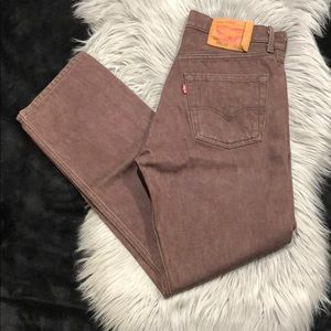 Levi's BBQ Wash 501XX Shrink to Fit Denim Jeans 30